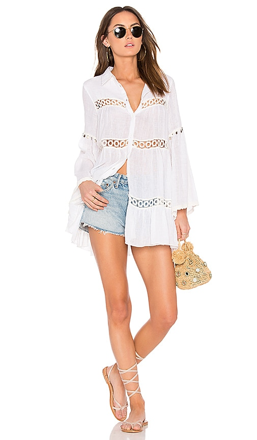 MISA Los Angeles Magali Top in White
