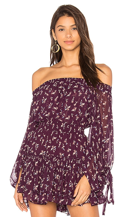 MISA Los Angeles Adeli Top in Purple