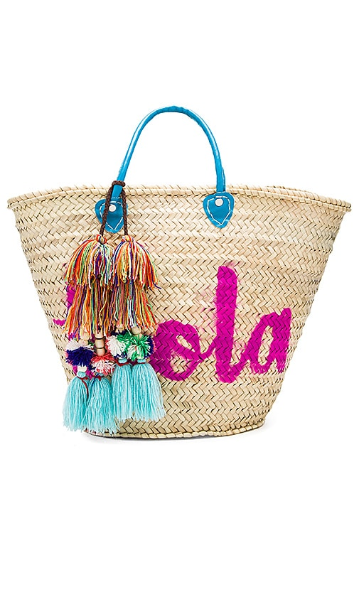 MISA Los Angeles Marrakech 'Hola' Bag in Beige