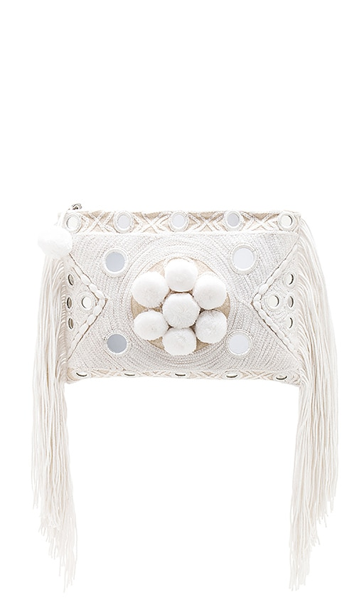 MISA Los Angeles Paraga Clutch in White