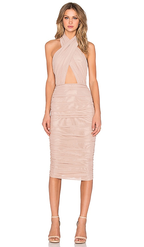 Misha Collection Keziah Dress in Tan