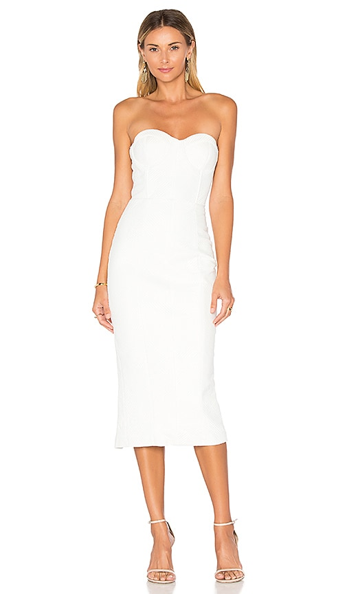 Misha Collection Byanca Quilted Dress in White