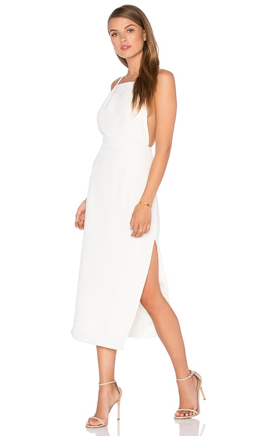 Misha Collection Alessandra Silk Dress in Ivory