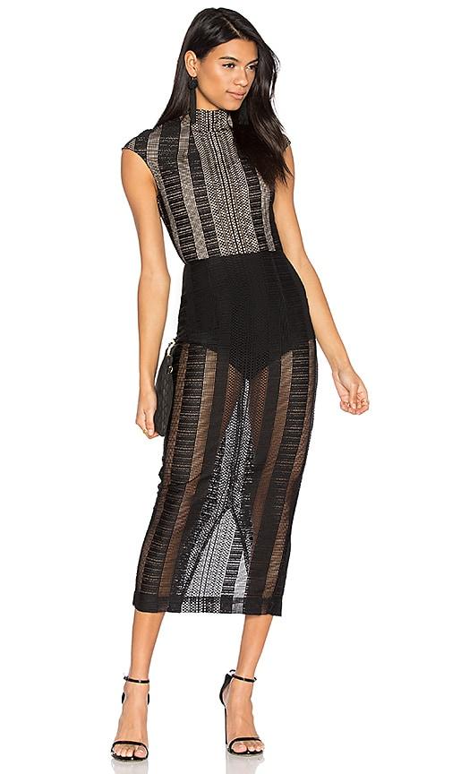 Misha Collection Chiara Lace Dress in Ebony