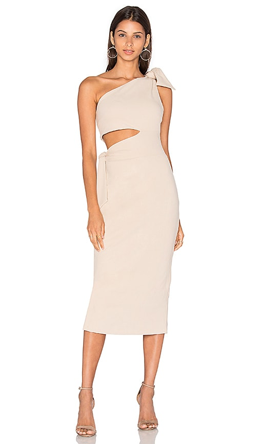Misha Collection Stefania Suede Dress in Beige