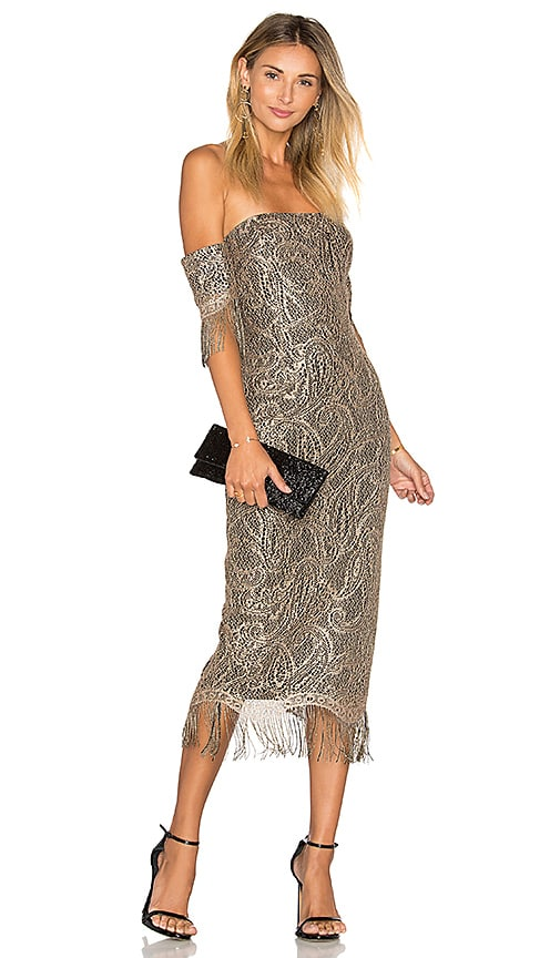 Misha Collection Mirielle Dress in Metallic Gold