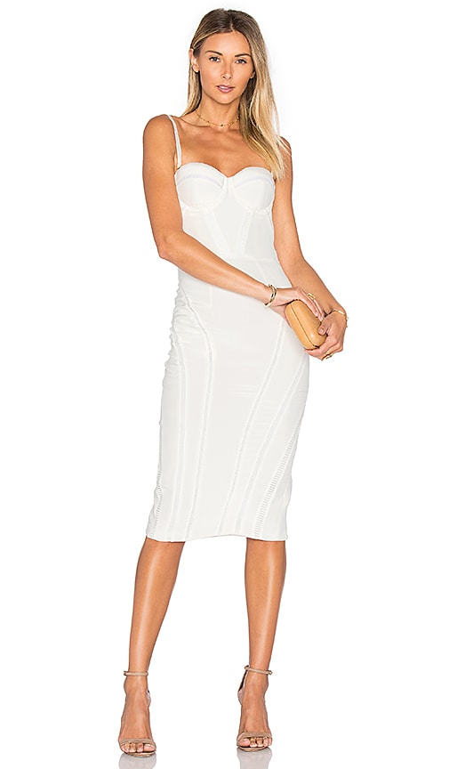 Misha Collection Jasmina Silk Dress in White