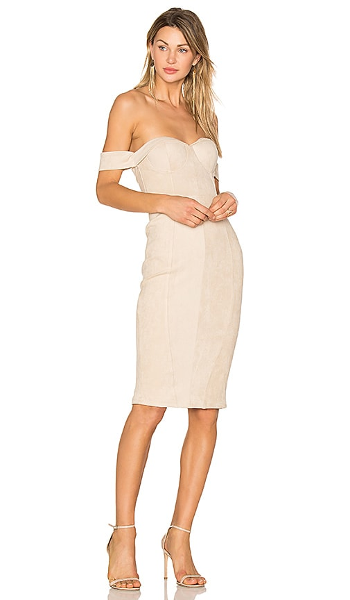 Misha Collection Jackie Dress in Beige