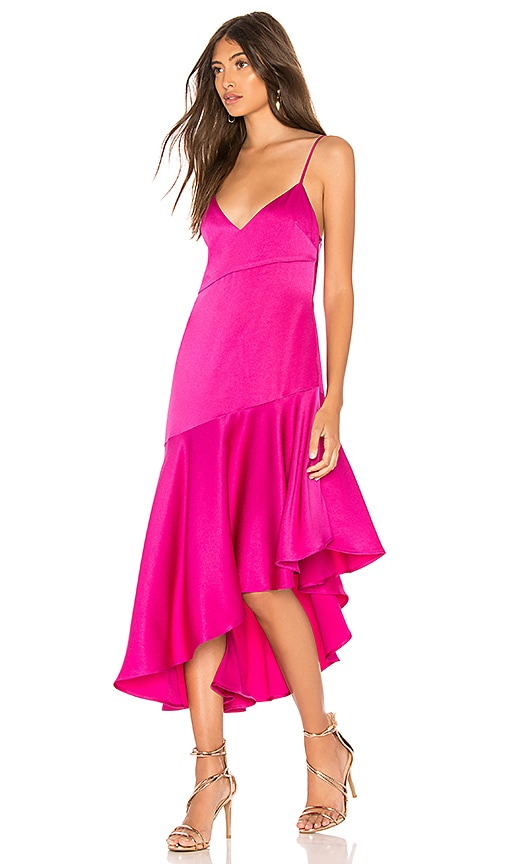 Misha Collection Madelyn Dress in Fuchsia