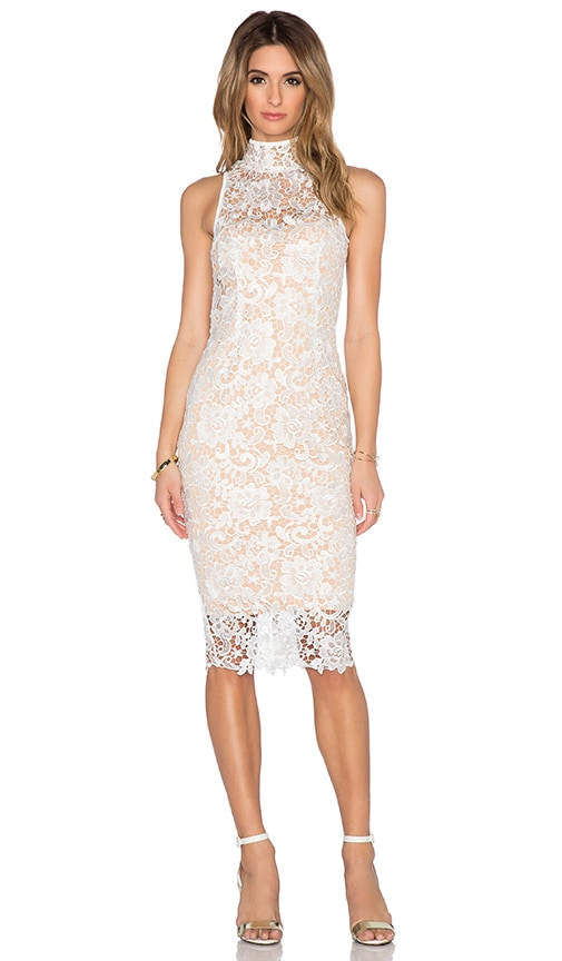 Misha Collection Eline Lace Dress in White