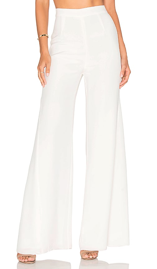 Misha Collection Giuliana Silk Pant in White