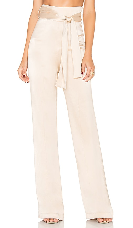 Misha Collection Flavanor Silk Pant in Beige
