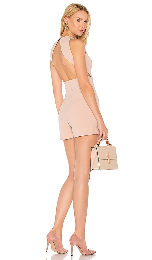 Misha Collection Clara Romper in Blush