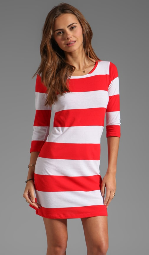 Wide Stripe Adriana Dress
