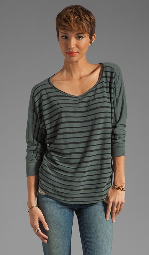 Onyx Stripe Frida Sweater