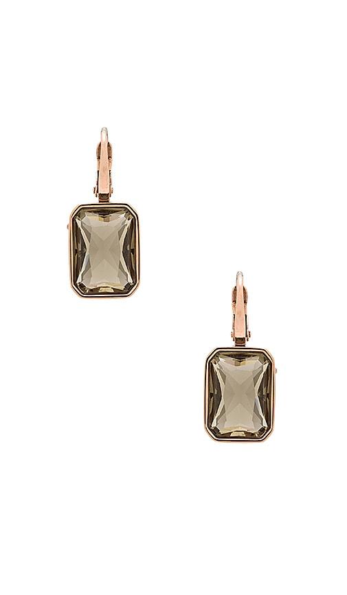 Michael Kors Cushion Cut Drop Earring in Rose Gold & Grey