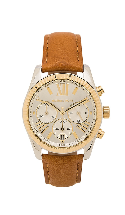 Michael Kors Lexington Watch in Tan