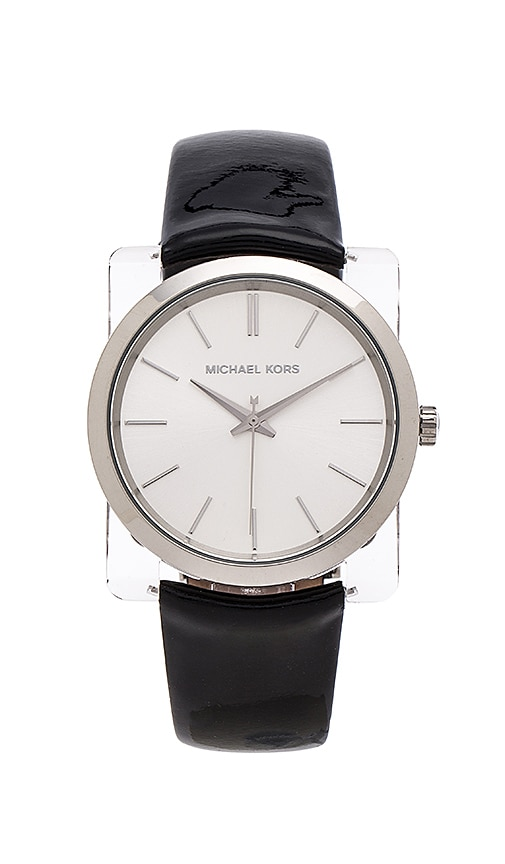 Michael Kors New Leather Watch in Black