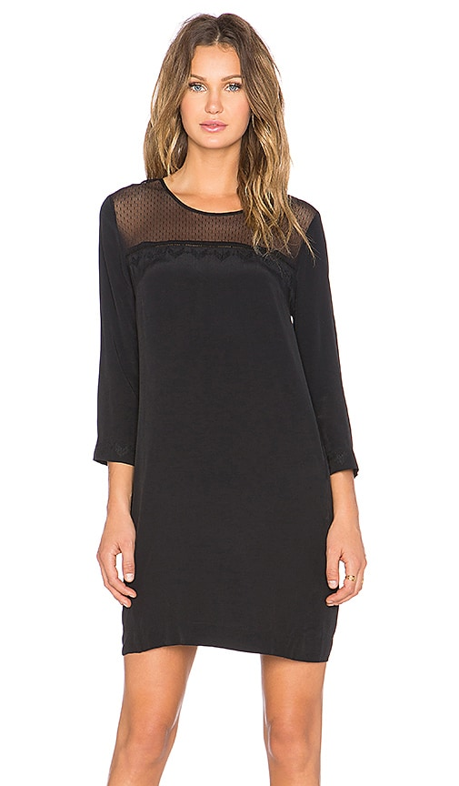 MKT studio Ruche 3/4 Sleeve Dress in Black