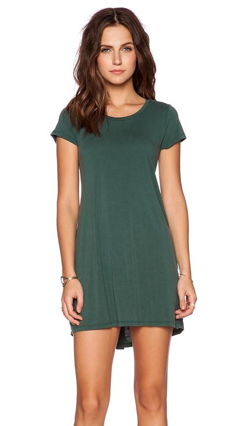Michael Lauren Cuba T Shirt Dress in Dark Green