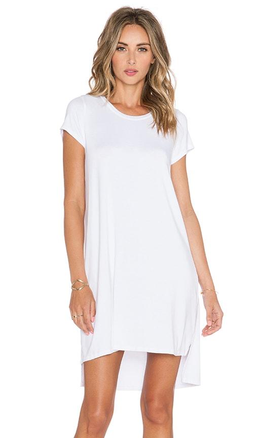 Michael Lauren Lucky Side Slit Dress in White