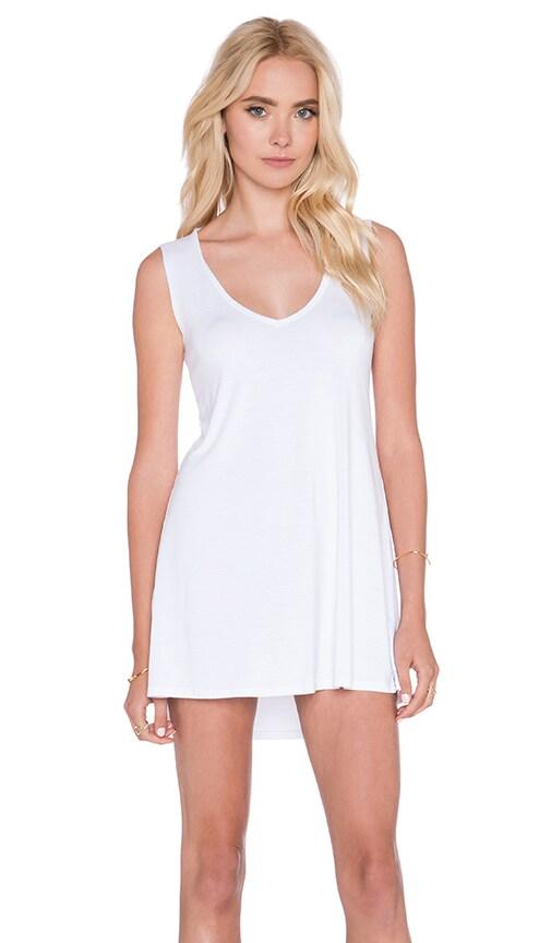 Michael Lauren Diamond V Neck Dress in White