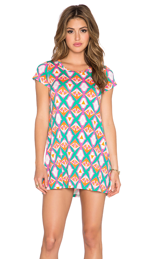 Michael Lauren Cuba T Shirt Dress in Bermuda Triangle
