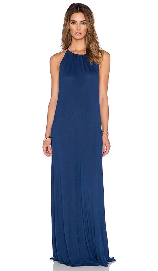 Michael Lauren Pedro Halter Maxi Dress in Blue Magic
