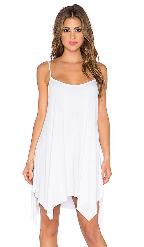 Michael Lauren Lang Spaghettic Tunic Dress in White