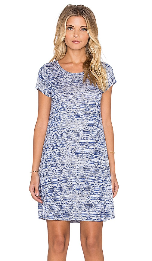 Michael Lauren Cuba Mini Tee Dress in Heather Grey Triangle