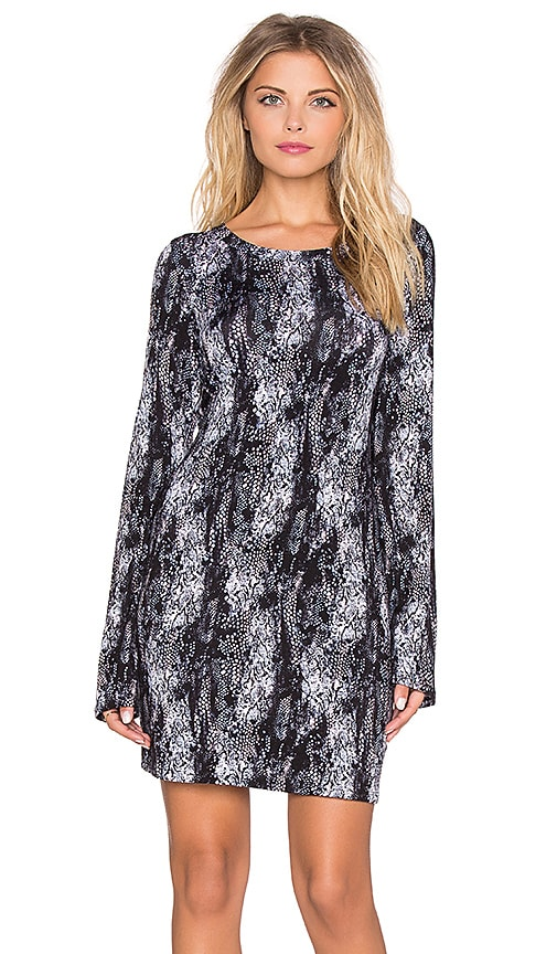 Michael Lauren Rocket Long Sleeve Dress in Blush Midnight Snake