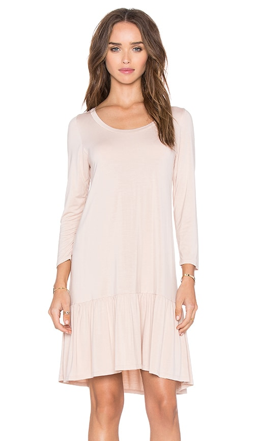 Michael Lauren Nash 3/4 Sleeve Ruffle Dress in Blush
