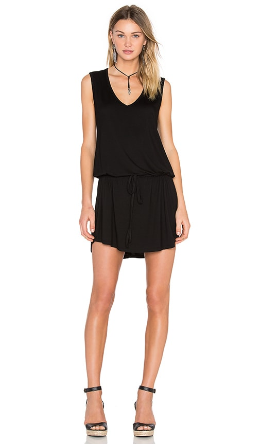 Michael Lauren Joop Mini Dress in Black