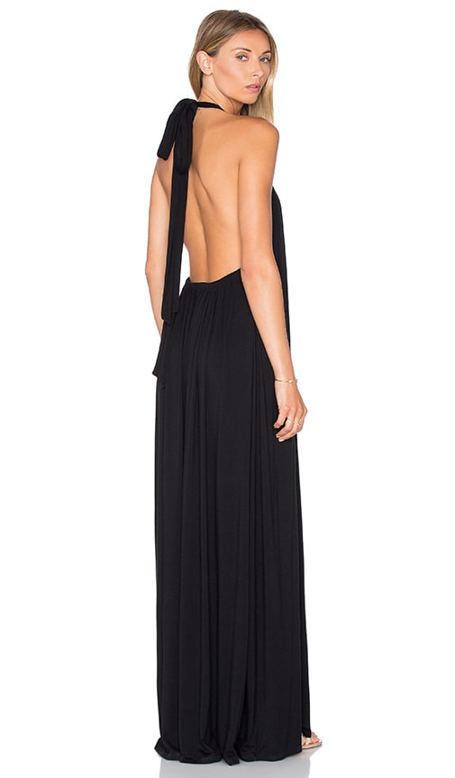 French Halter Maxi Dress