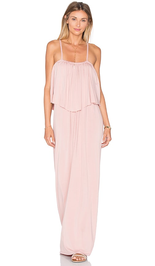 Michael Lauren Matador Maxi Dress in Blush