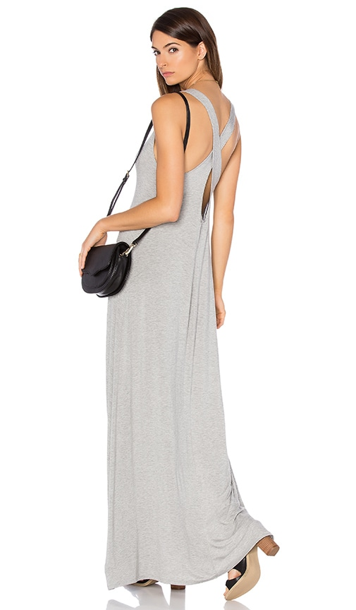 Michael Lauren Grady Maxi Tank Dress in Heather Grey