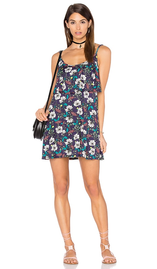 Michael Lauren Marlow Fiesta Mini Dress in Navy