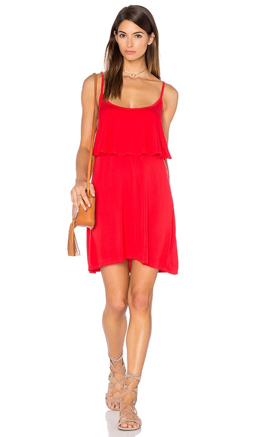 Michael Lauren Marlow Fiesta Mini Dress in Red