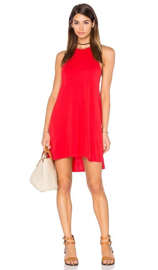 Michael Lauren Scotty High Neck Mini Dress in Gypsy Red