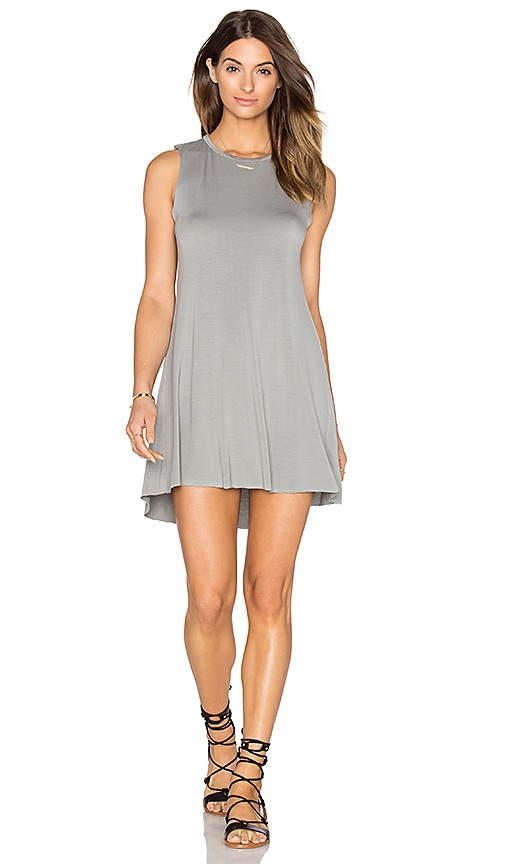 Michael Lauren Gilly Tank Dress in Grey