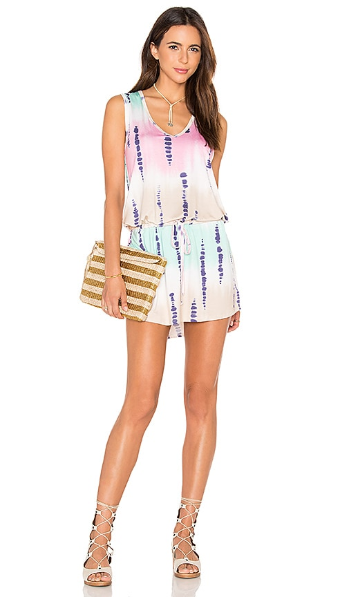 Michael Lauren Joop Mini Dress in Tie Dye