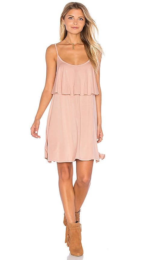 Michael Lauren Marlow Mini Dress in Blush