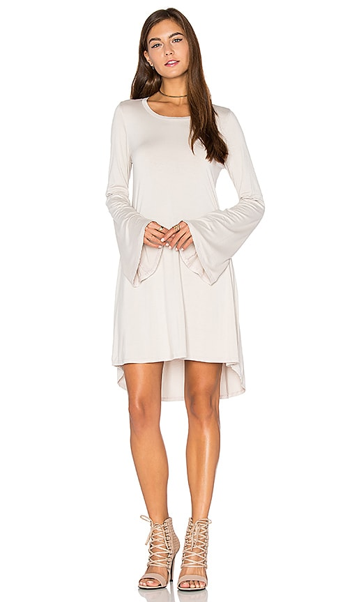 Michael Lauren Kipp Mini Dress in Beige