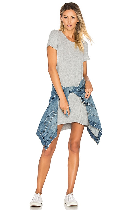 Michael Lauren Cuba Shirt Dress in Light Gray