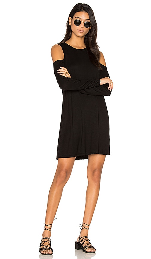 Michael Lauren Radford Open Shoulder Dress in Black
