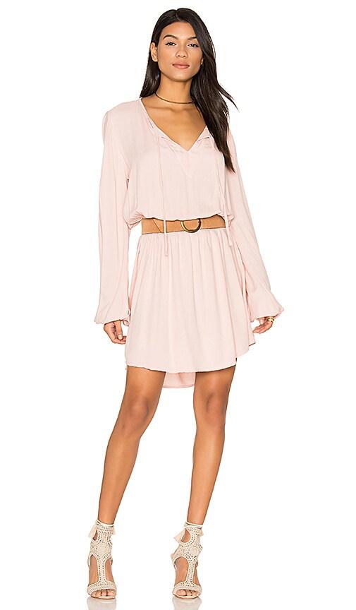Michael Lauren Quintin Long Sleeve Dress in Pink