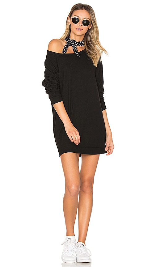 Michael Lauren Titus Sweatshirt Dress in Black