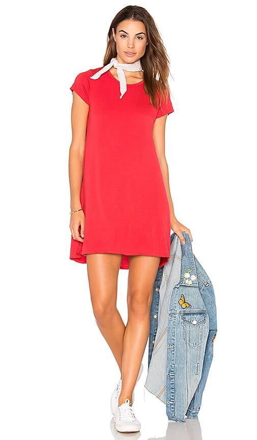 Michael Lauren Cuba T Shirt Dress in Red