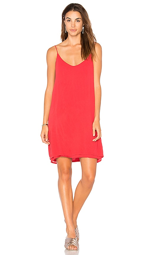 Michael Lauren Chance Tank Dress in Red