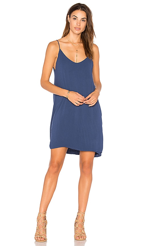 Michael Lauren Chance Tank Dress in Blue